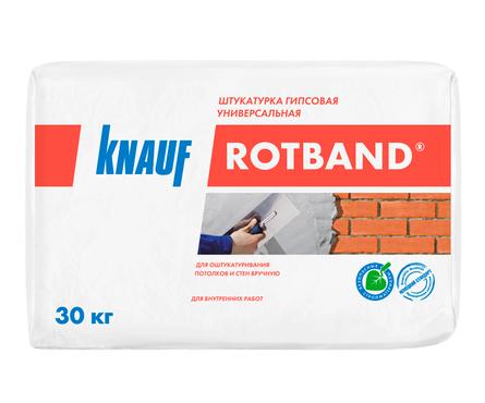 Штукатурка гипсовая KNAUF Ротбанд, универсальная, белая (30 кг) Фотография_0