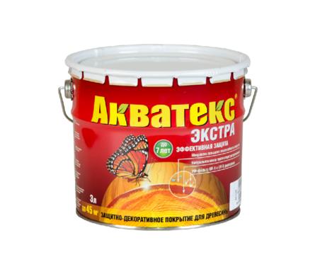 Пропитка для дерева Акватекс-Экстра белый 3л