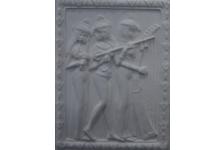 Гипсовая плитка Декоративное панно 600-00 белый, 145х195 мм