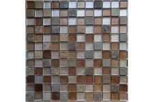 Мозаика Caramelle Mosaic Naturelle Alcantara Ruggine 298х298х8 мм, чип 23*23 мм