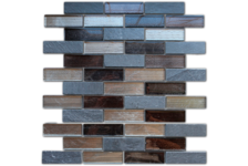 Мозаика Caramelle Mosaic Naturelle Alcantara Nero 260х298х8 мм, чип 23*73 мм