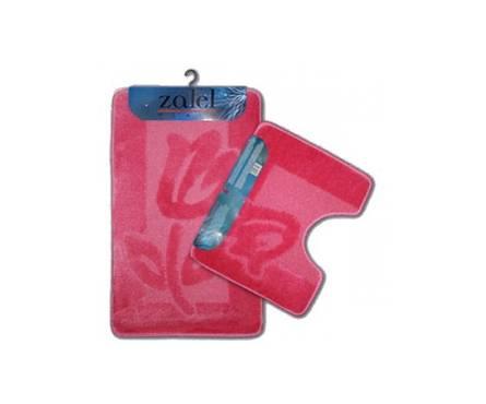 Набор ковриков для ванной Zalel 2 предмета 60х100 (розовый)
