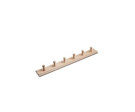 Вешалка Банные штучки 6-ти рожковая, липа, 60х7х8.5 см Фотография_0