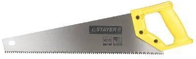 Ножовка по дереву ударопрочная STAYER ТАЙГА-5 400мм, пласт. ручка, прямой крупный зуб