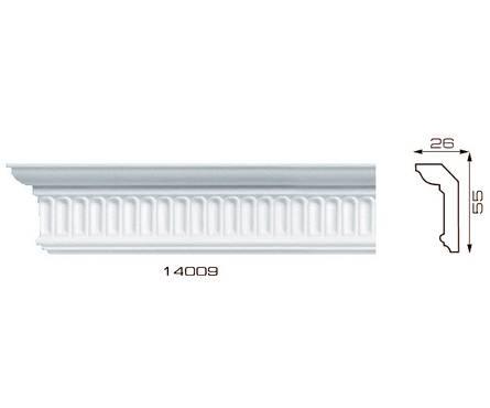 Плинтус потолочный 1,3м Инжекционный Лагом 14009, для натяжного потолка Фотография_0