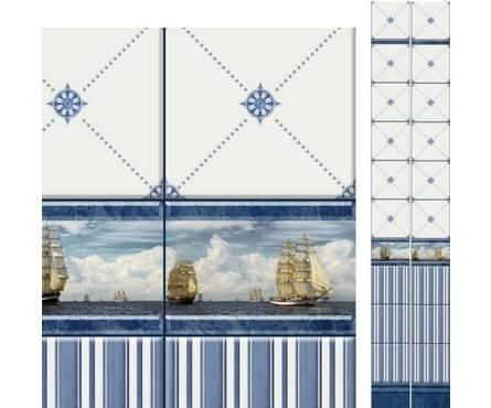 ПВХ Панель UNIQUE 3D 2700*250*8мм Корабли Декор из 2 шт. (0,675 кв. м, в уп. 12 шт.)