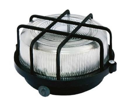 Светильник НПП 03-100-005.04 У3 (корпус и защитная  сетка-квадрат, черный) TDM Фотография_0