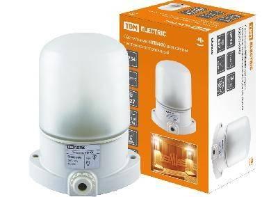 Светильник НПБ400 для сауны настенно-потолочный белый, IP54, 60 Вт, белый, TDM Фотография_0
