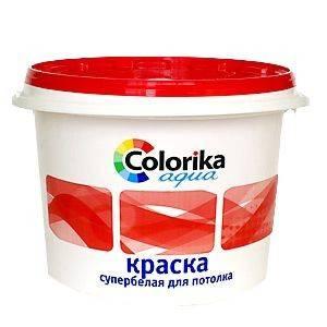 Краска ВД Colorika Agua супербелая для потолка 14кг Фотография_0