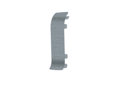 Угол для плинтуса Е67 Идеал Элит Палисандр серый/282 соединительный