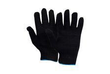 Перчатки х/б ДомВелл ПРОМ 7 класс вязки, черные, двойные