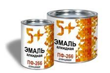 Эмаль для пола красно-коричневая 5+  ПФ-266 1,9 кг