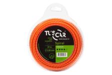 Леска для триммера TUSCAR Spiral, Premium, 2.4mm*12m
