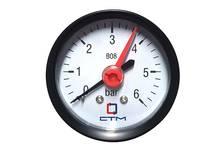 Монометр CTM аксиального подключения 1/4, измерения до 6 бар