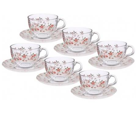 Сервиз чайный из стекла, 12 предметов, Provence 97948 D Pasabahce.jpg