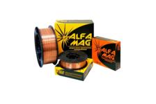 Проволока AlfaMag СВ08Г2С омедненная, (SG-2) d=0,8 мм, пласт.касс. рядн.намот 5 кг, (D200) желтый