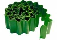 Ограждение волна для газонов, грядок H=20см L=9м зеленый 256012/256011