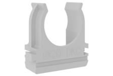 Крепеж-клипса для трубы 20 мм (упаковка/25 шт)