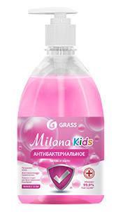 Жидкое мыло антибактериальное Milana BubbleGum 0,5л GRASS