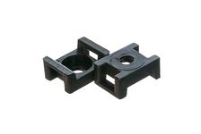 Площадка монтажная FORTISFLEX под винт, ПМО 22х16 мм, цвет черный (уп/100 шт)