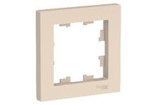 Рамка ATLAS бежевый 1-постовая  (Schneider Electric)