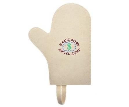 Рукавица для сауны С легким паром Банные штучки, войлок 100% Фотография_0