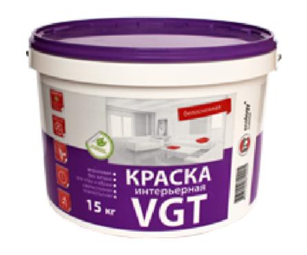 Краска ВД VGT интерьерная влагостойкая 7 кг