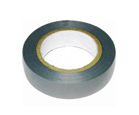 Изолента ПВХ серо-стальная 19 мм х20 м Фотография_0