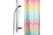 Штора для ванной Вилина Зигзаг цветной 180х180 см, полиэстер