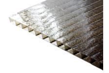 Сотовый поликарбонат CARBOGLASS Премиум Колотый лед 6 мм, бронза, 12 x 2,1 м
