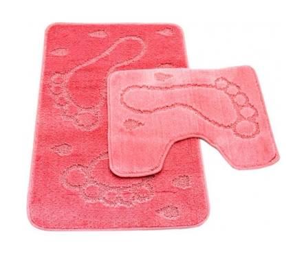 Набор ковриков Zalel для ванной 55х85, розовый (2 шт/упак) Фотография_0