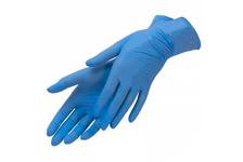 Перчатки нитровиниловые ADM N11603LB Ультрасофт, неопудренные, голубые, L