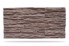 Гипсовая плитка Сланец тонкослойный 200-21 (темно-коричневый) 9,5х38 см