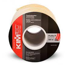 Уплотнитель KIM-TEC Р-профиль белый 9*5,5, двойной 100 м Фотография_0