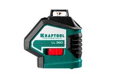 Нивелир лазерный Kraftool, 2*360°, 20м/70 м, IP54, точн.+/-0,2 мм/м, держатель, кейс, штатив, в коробке