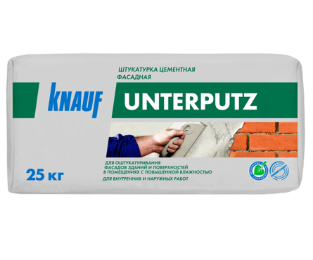 Штукатурка KNAUF Унтерпутц цементная фасадная 25 кг Фотография_0