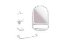 Зеркало для ванной комнаты Альтернатива Аква №5 белое, с полкой