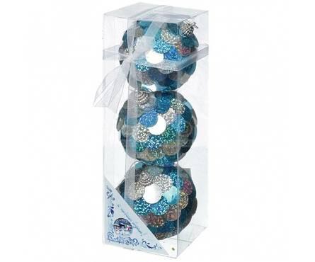 Набор шаров Е70035, диаметр 8 см, голография, фольга (3 шт) Фотография_0
