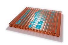 Сотовый поликарбонат SKYGLASS 10 мм, коричневый, 12 х 2,1 м, БСТ