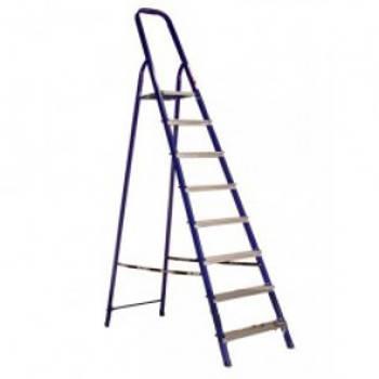 Стремянка стальная 8 ступеней (высота 166см, вес 8,3кг)