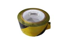 Лента сигнальная, желто-черная, 50 мм х 100 м