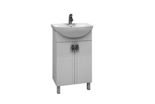 Тумба для ванной Mixline Квадро 55  с умывальником Элеганс 55 (ПВХ)