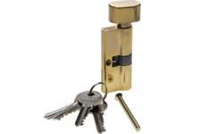 Механизм цилиндровый ЗУБР МАСТЕР 70 мм, тип ключ-защелка, 5-PIN, латунь