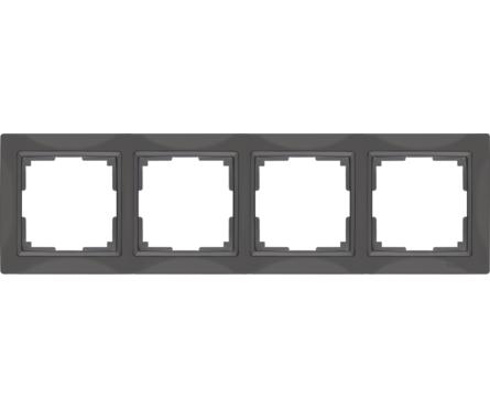 Рамка 4 Поста Универсальная Серо-коричневый Basic Snabb Werkel Фотография_0
