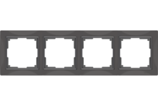 Рамка 4 Поста Универсальная Серо-коричневый Basic Snabb Werkel
