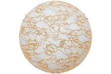 Светильник декоративный Мрамор (золото) 300мм, кр.хром