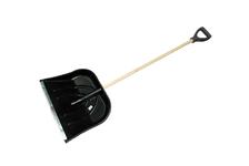 Лопата снеговая 500*382 мм пластмассовая с дер/черенком