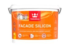 Краска акриловая Tikkurila FACADE SILICON для фасадов и цоколей, база C (9 л)