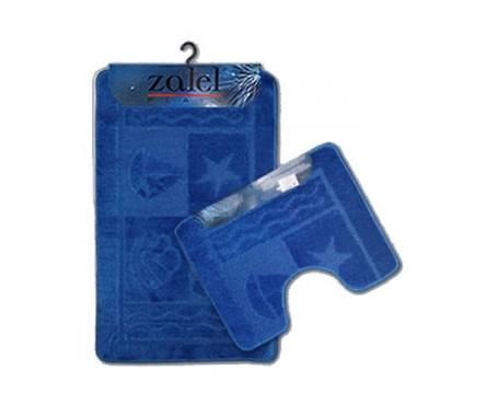 Набор ковриков для ванной Zalel 2 предмета 60х100 (голубой)