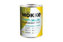 Грунт-эмаль Mokke по ржавчине 3 в 1, желтая (1.9 кг)